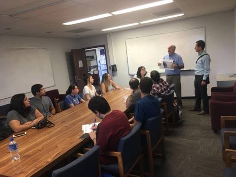 Meeting with Armenian Studies Faculty professor and students from California State University