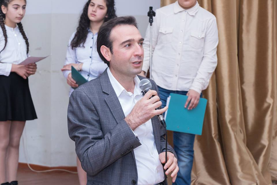 Meeting with students of #3 primary school of Yeghvard